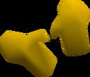 Yellow gloves detail