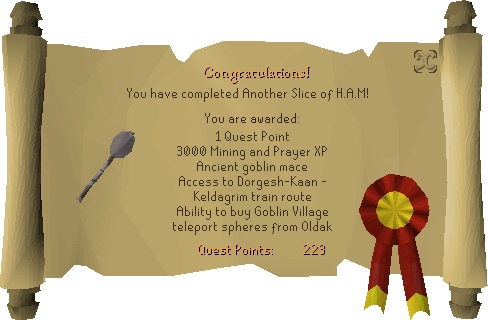 Another Slice of H.A.M. reward scroll