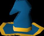 Blue wizard hat (g) detail