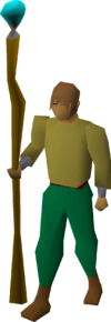 Cursed goblin staff equipped