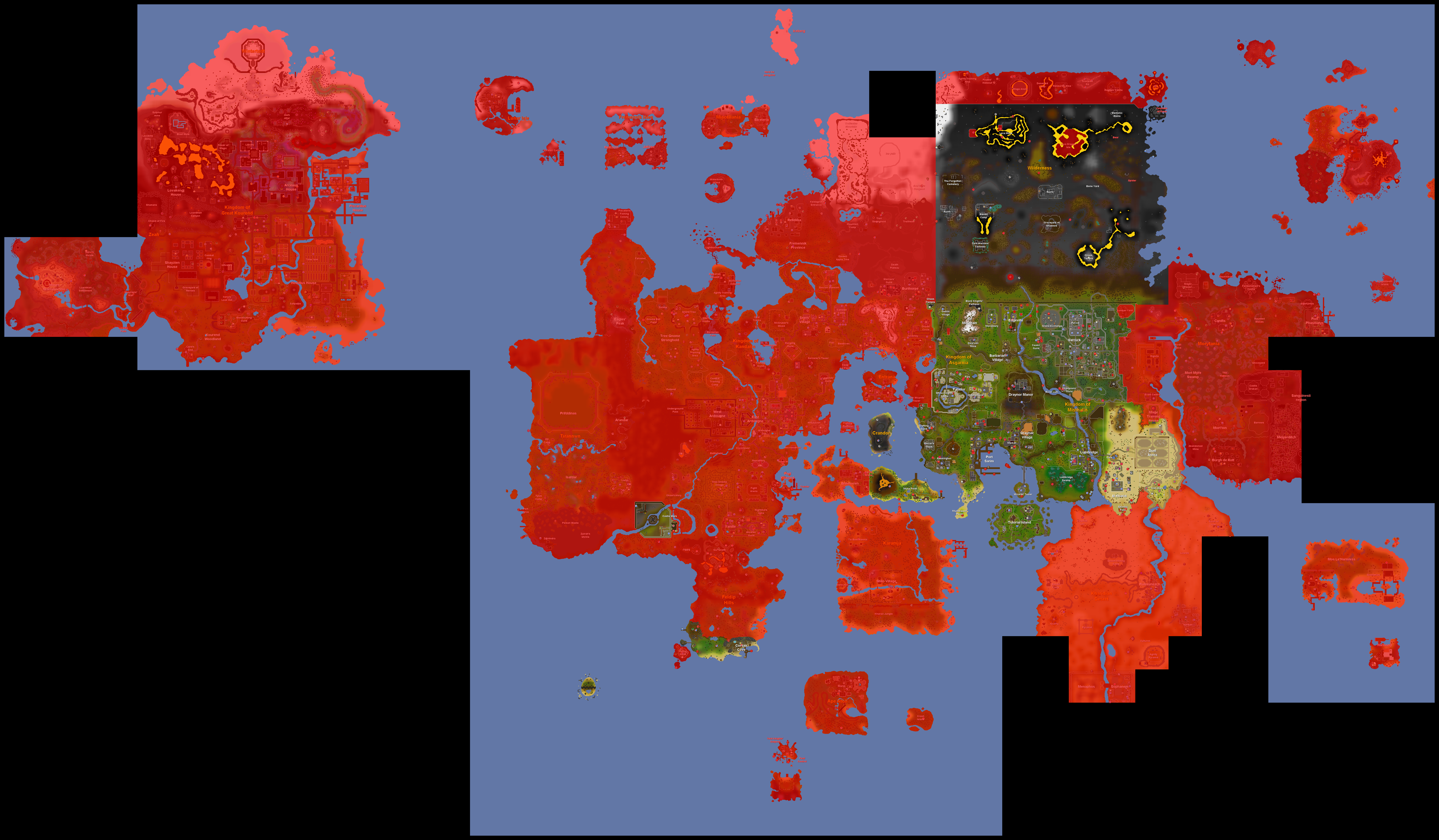 Free to play old school runescape wiki fandom powered by wikia free to play areas and activities highlighted on the world map pay to play areas and activities in red gumiabroncs Choice Image