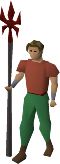 Dragon spear equipped