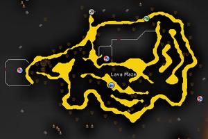 Lava Maze map