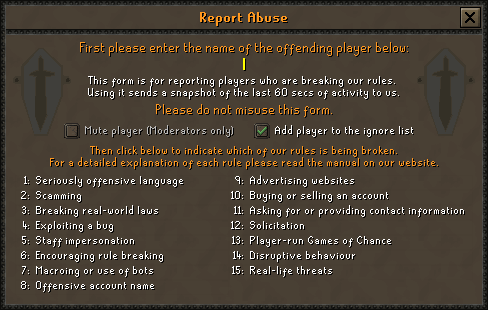 Code of Conduct | Old School RuneScape Wiki | FANDOM powered