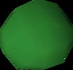 Stone ball (green) detail