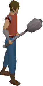 Ancient mace equipped