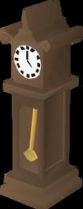 Teak clock built