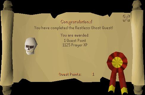 The Restless Ghost reward scroll