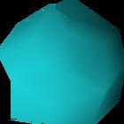 Semi-precious blue gem detail