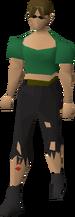 Torn trousers (female)