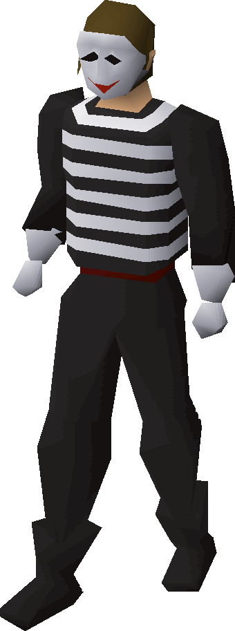 Mime outfit equipped