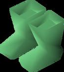 Green boots detail