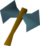 Rune thrownaxe detail