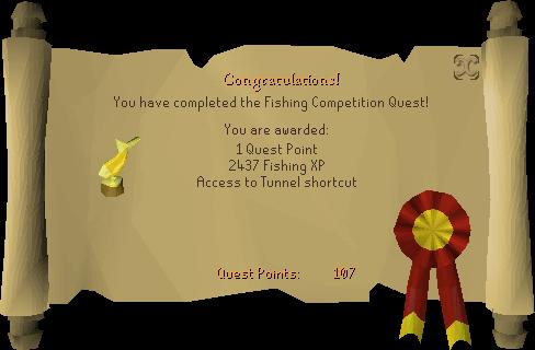 Fishing Contest reward scroll