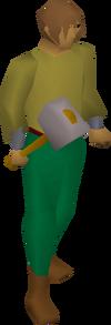 Steel warhammer equipped