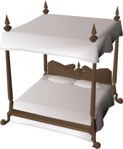 Four-poster bed built