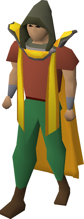 Smithing hood equipped