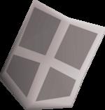 Steel kiteshield (t) detail