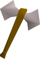 White battleaxe detail
