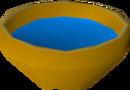 Bowl of blue water detail
