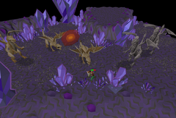 Charging dragonfire ward in Catacombs of Kourend