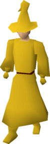 Yellow robes equipped