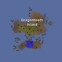 Hot cold clue - south Dragontooth Island map