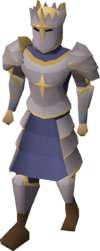 Justiciar armour equipped