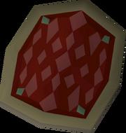 Red d'hide shield detail