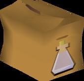 Water-filled vial pack detail
