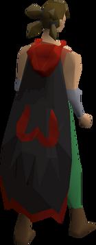 Imbued zamorak cape equipped