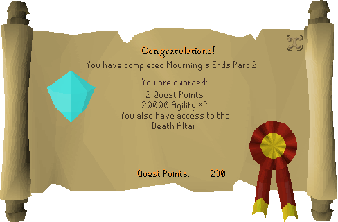 Mourning's Ends Part II reward scroll