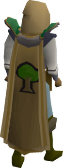 Woodcutting cape equipped