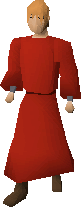Zamorak monk robes equipped