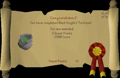 Black Knights' Fortress reward scroll