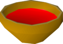 Bowl of red water detail