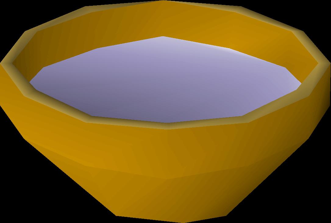 Bowl of water detail