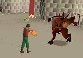 Fighting Lesser Demon Champion