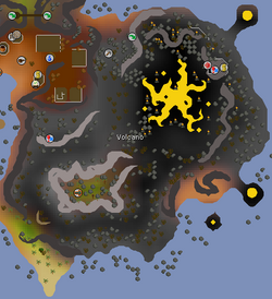 Fossil Island Volcano map
