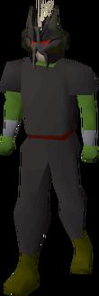 Black slayer helmet equipped