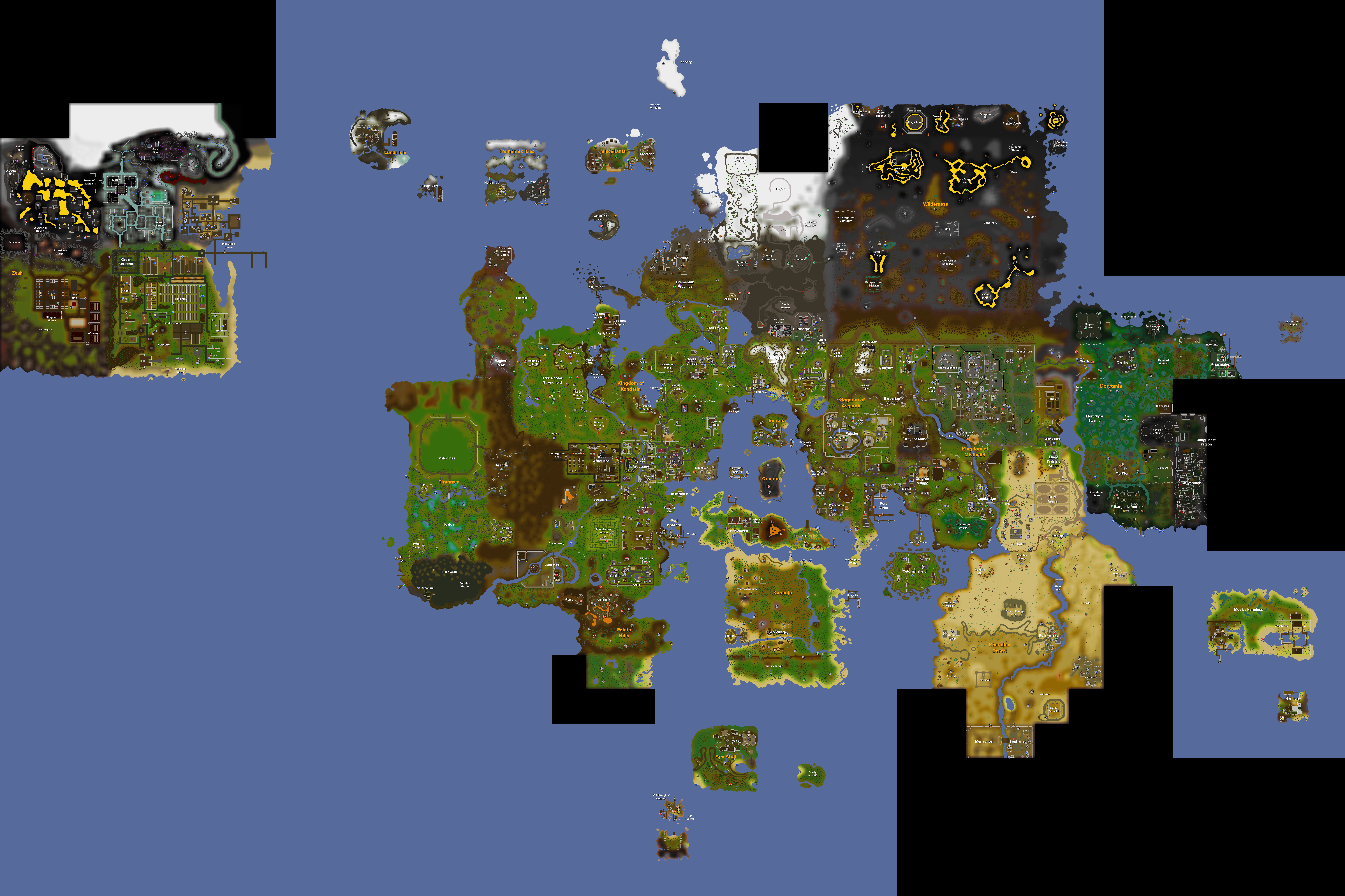 Image old school runescape world mapg old school runescape 1538 march 3 2016 gumiabroncs Images