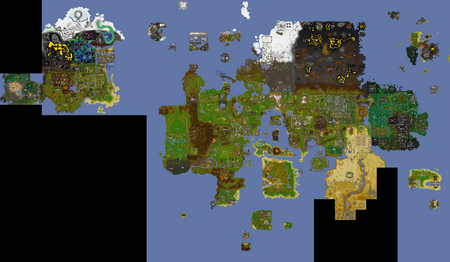 Old School RuneScape world map