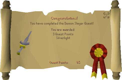 Demon Slayer reward scroll