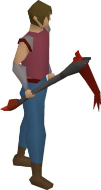 Infernal pickaxe equipped