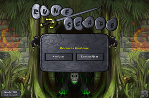 Monkey Madness II login screen