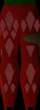 Red d'hide chaps detail