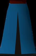 Blue skirt (t) detail
