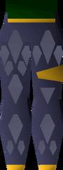 Blue d'hide chaps (g) detail
