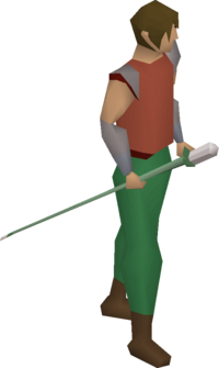 Adamant cane equipped