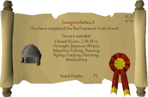Fremennik Trials reward scroll